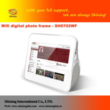"""7"""" Android System LCD screen digital picture frame with 4GB internal memory"""