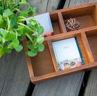 Zakka mercearia de madeira caixa de armazenamento caixa de armazenamento rede madeira artesanato