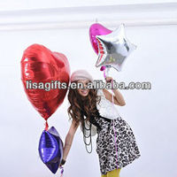 2013 hot selling 18'' round/star/heart decoration plain foil balloons