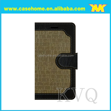 edge matching work case with wall grain, stand function and magnet ear and card slots for Samsung Galaxy S6