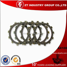 Whosale Ax100 motorcycle clutch plate for South America motocicleta