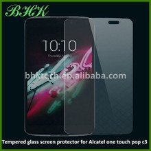 HD reusable tempered glass screen protector for Alcatel one touch pop c3, glass screen protector for Alcatel one touch pop c3