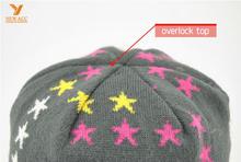 Beautiful five-pointed star skull jacquard cap