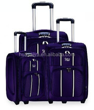 3PCS twill material fabric polyester soft eve travelling luggage bags manufacturerwith pvc cover