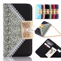 Fashion handbag for cell phone s6 lady case lacy mobile cover for samsung galaxy s6