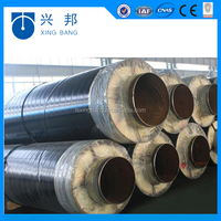 rock wool fireproof thermal insulation material filled steel pipe insulation manufacture