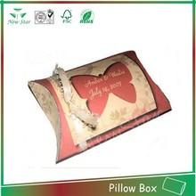good design retail pirce box,pillow shape box