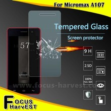 2015 New arrival good quality Micromax A107 9H 0.3mm 2.5D tempered glass screen protector for Micromax A107