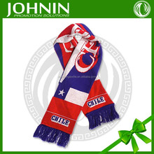 100 acrylic printing national chile fans scarf