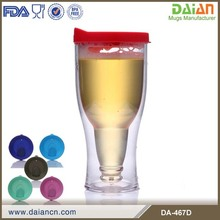 Personalized party double wall plastic cup beer