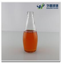 hot sale 290ml bowling shape beverage use glass juice bottle