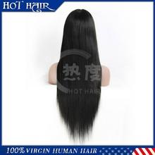 High quality peruvian virgin remy hair glueless silk top full lace wig