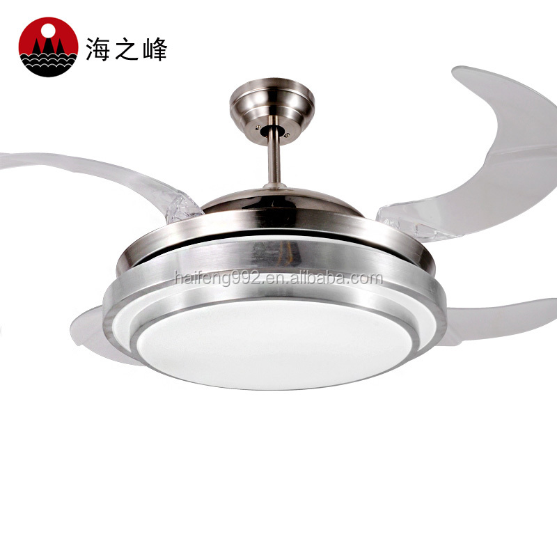 56W LED Light Ceiling Fan With Hidden Acrylic Blades