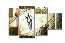 Modern wall picture dance couple painting on canvas for home decoration wholesale