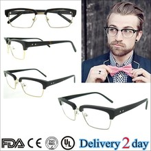 2015 high quality fashion eyeglasses providers black/tortoise men optical glasses handmade acetate silhouette glasses frames