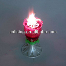 electronic music sparkling birthday candle