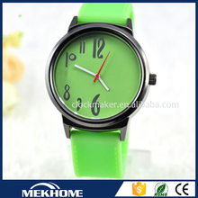 2015 fahion hot sale latest design young people color change leather watch belt