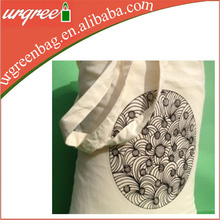 Recyclable Shopping Cotton Bag Standard Size Cotton Canvas Tote Bag