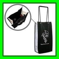 biodegradable material custom design printing wine bottle packaging fabric gift bags wholesale