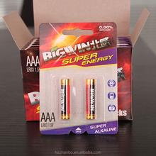 best price LR03 1.5V 800mah UM4 AAA batteries alkaline battery