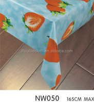 strawberry flower high quality non-toxic plastic tablecloth