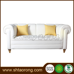 New design 2 seater white leather sofa for sale SO-086