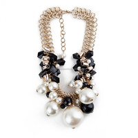 Newest design resin necklace wholesale statement necklace 2015 fashion baroque pearl necklace from Yiwu Futian market