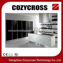 Black Color Glass Panel Heater with Remote Control