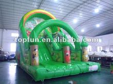 2012 new PVC hot-top inflatable slide