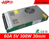 Alibaba website gold supplier hot selling AC DC Regulated Switching Power Supply High Quality 300w 5v 60a power supply 100 vdc