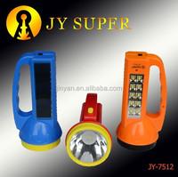 ningbo jinyan electronic co ltd JYSUPER flashlight led plastic rechargeable handle torch 7512