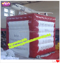 Air plane advertising inflatable cube booth/square tent A97