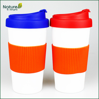 16oz/450ml Plastic Insulated Tumbler with Silicone Cover