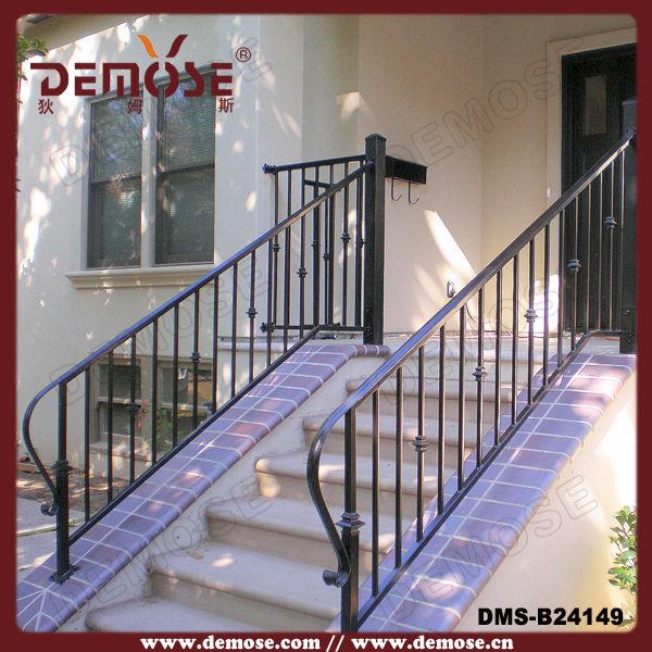 exterior de hierro forjado pasamanos de la escalera