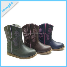 girls square toe western boots flat fashion boots
