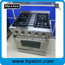 Hyxion stainless steel free standing 30inch gas cooking range with 4 burner