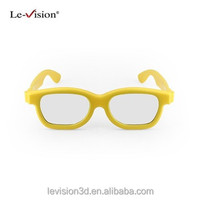 Le-Vision foldable plastic frame 3D glasses Promotional 3D passive glasses Polarized 3D glasses for cinema and theater