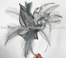 Fashion Crystal Hair Accessories, Delicate sinamay fascinators, Head accessories for women