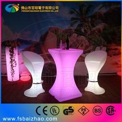lighting led table LED modern bar tables glowing furniture led plastic bar counter