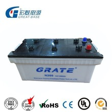 Heavy Duty Automotive Dry charged big truck battery N200 12V200AH 190H52