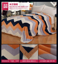 super soft and thick waves of sliver china factory price flannel fleece blankets