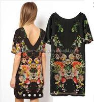 2014 Top Newest European Women Casual Printing Dress Wholesale Women Clothing