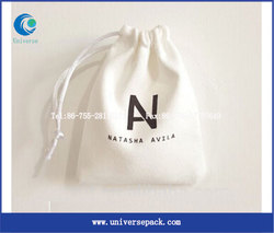 Packing Jewelry Bags Pink Suede Pouch With Customized Label For Export Sale