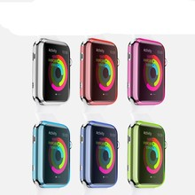6 Colors Crystal Clear Hard Plastic PC Cover Case for apple watch High Quality Fashion Case