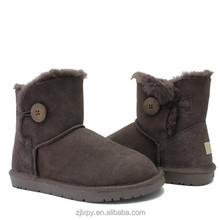 Sheepskin ankle women winter boots wholesale