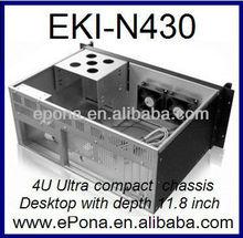 4U Ultra compact chassis Desktop with depth 11.8 inch EKI-N430