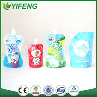 stand up drink pouches with spout/manufacture stand up pouch bags with spout Drink Pouches