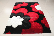 Plain colors 3D shaggy polyester carpet and rug for home use