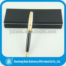 Wholesale classical metal twist ballpoint pen black Body pen With silver Drawing cap pen