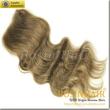 best quality cheap body wave malaysian light brown closure with bundles